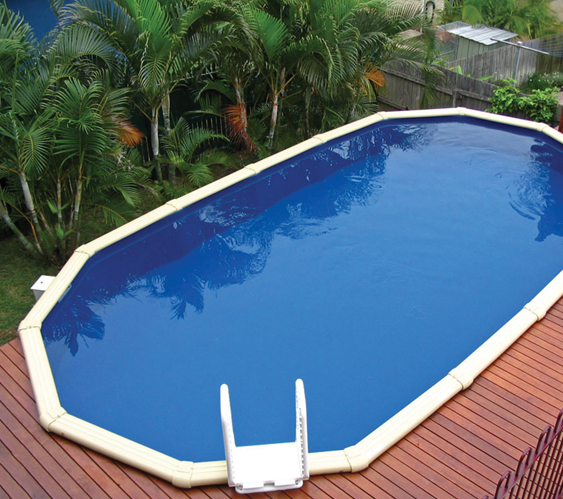 Lindeman barbados above ground pool donehues leisure - Above ground swimming pool rental ...