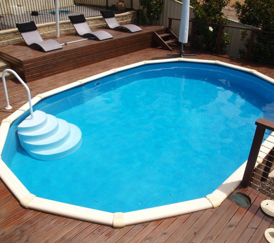 Coral reef above ground pool donehues leisure - Above ground fibreglass swimming pools ...