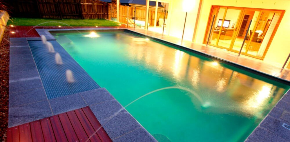 Donehues Leisure Pool water features Swimming pool with deck ...